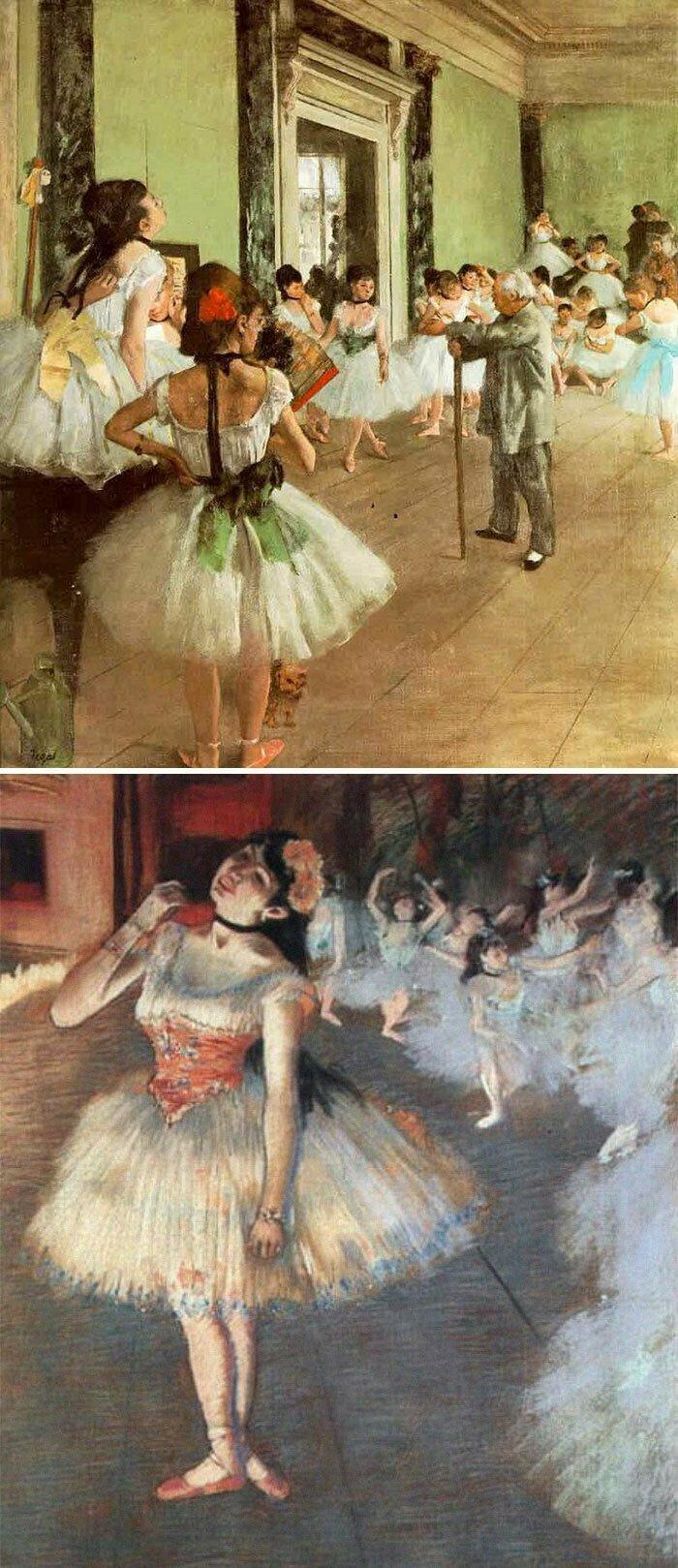 Если вы видите балерину — это Дега