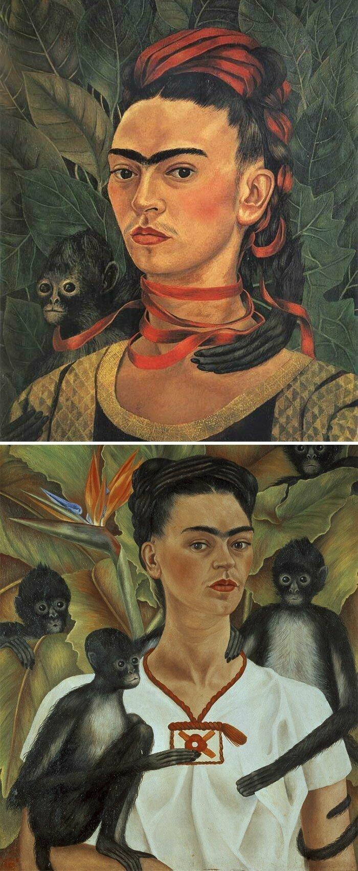 Если на картине изображены женщины со сросшимися бровями — это Фрида
