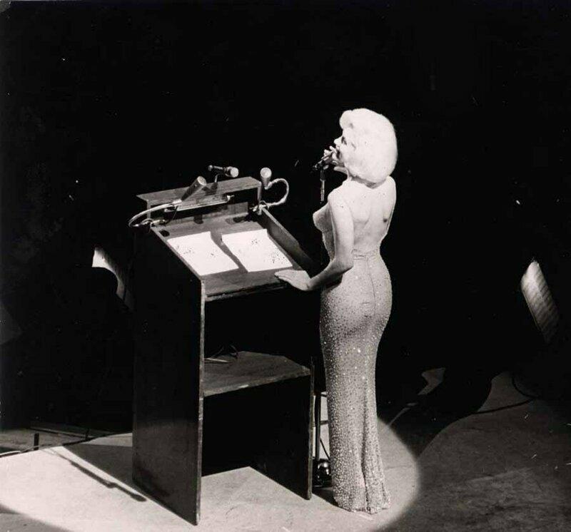Платье Монро - сюрприз президенту