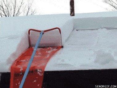 У кого там много снега?
