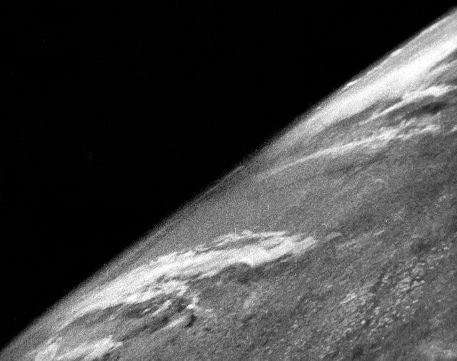 12. Первый снимок Земли из космоса, 24 октября 1946 год