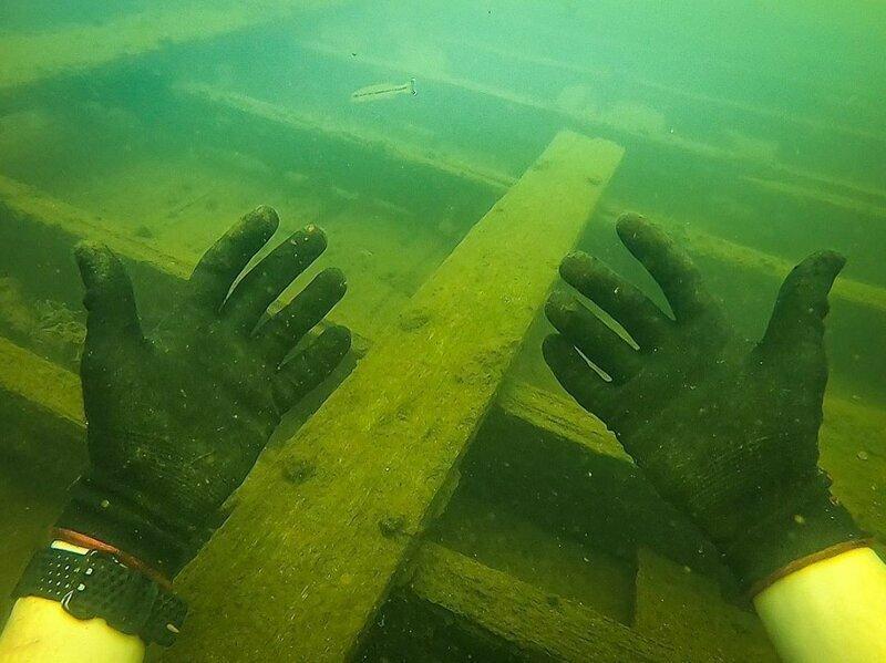 Это затонувший корабль времен гражданской войны