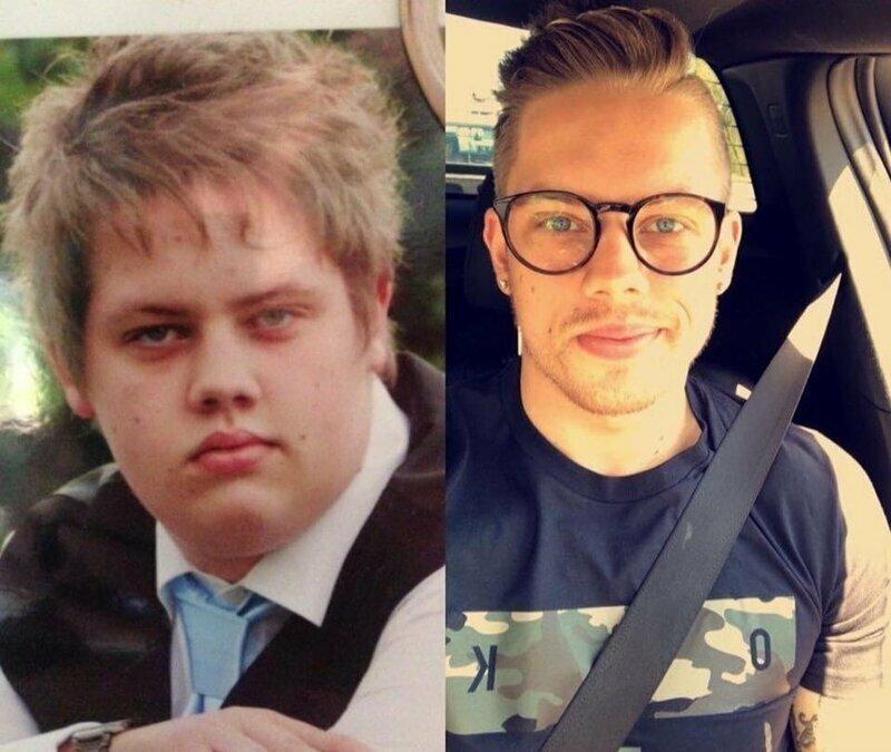 С тех пор Энтони скинул целых 60 килограммов и чертовски изменился