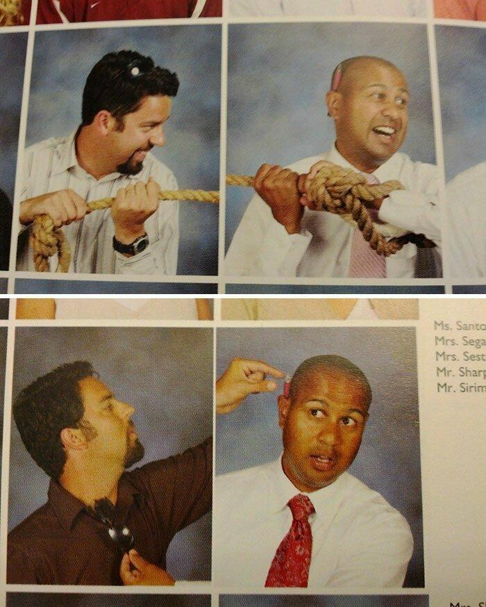 """23. """"Покажите мне фотографии ваших учителей в выпускных альбомах!"""""""
