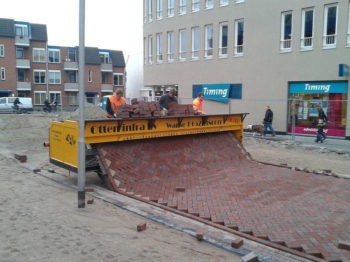 Автоматический укладчик дорожек в Голландии