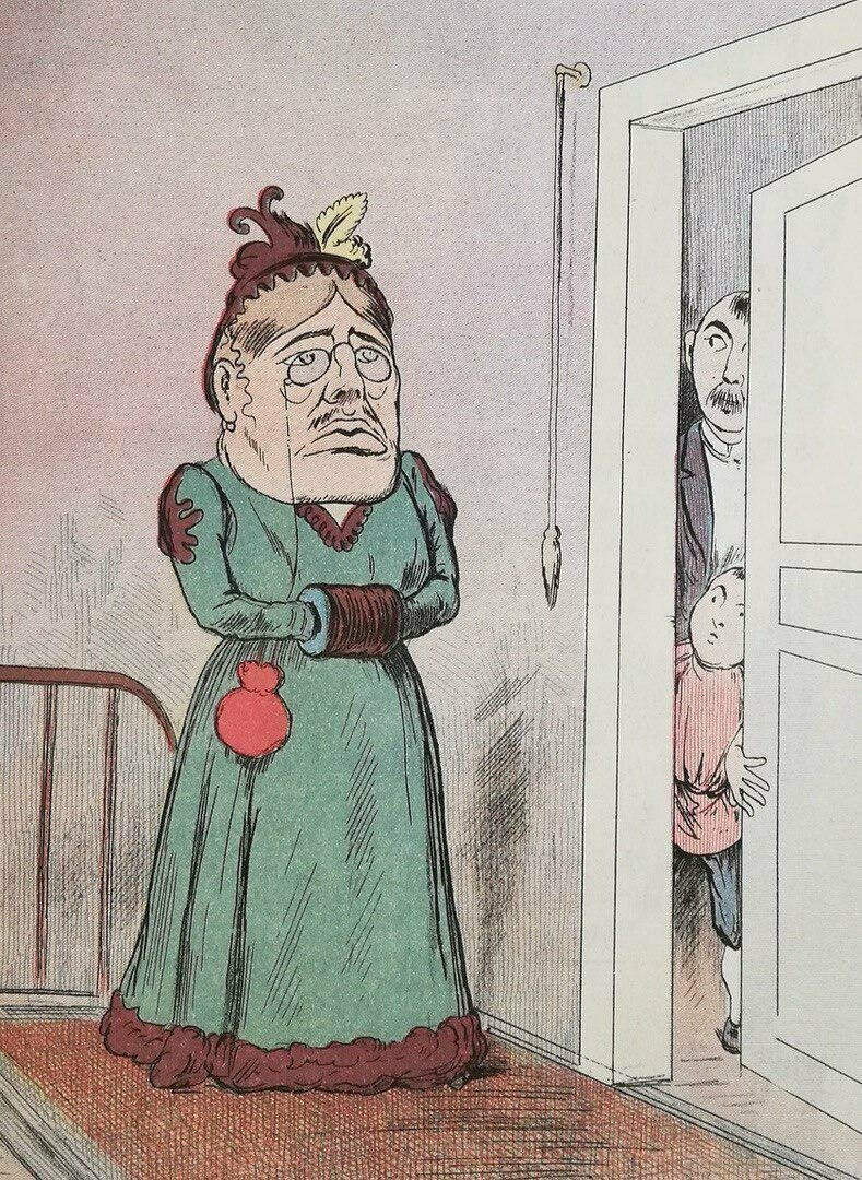 """""""Ой, какая страшная!.. Не открывай двери, папа: это, наверное, инфлуенца!"""""""