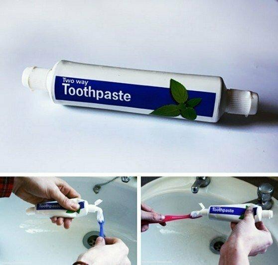 13. Двусторонняя зубная паста