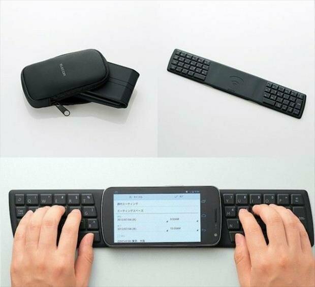 6. Складная клавиатура для смартфона