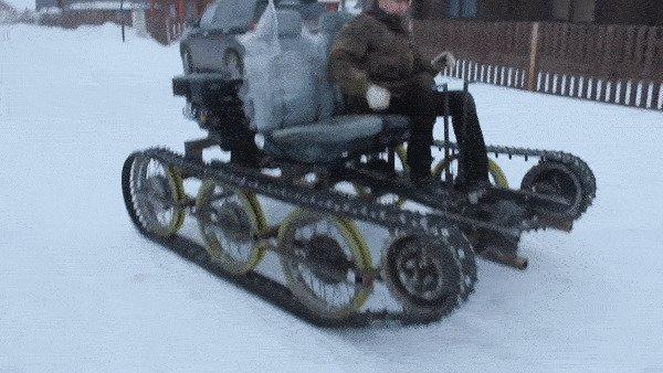 Для передвижения по заснеженным дорогам России