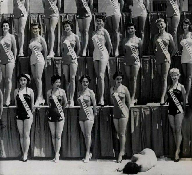 22. «Мисс Новая Зеландия» упала в обморок на конкурсе «Мисс Вселенная», Лонг Бич, 1954 год