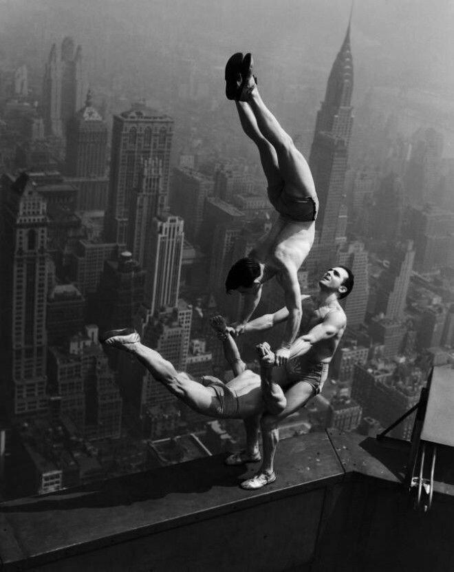 4. Акробаты на Эмпайр-стейт билдинг, 1934 год