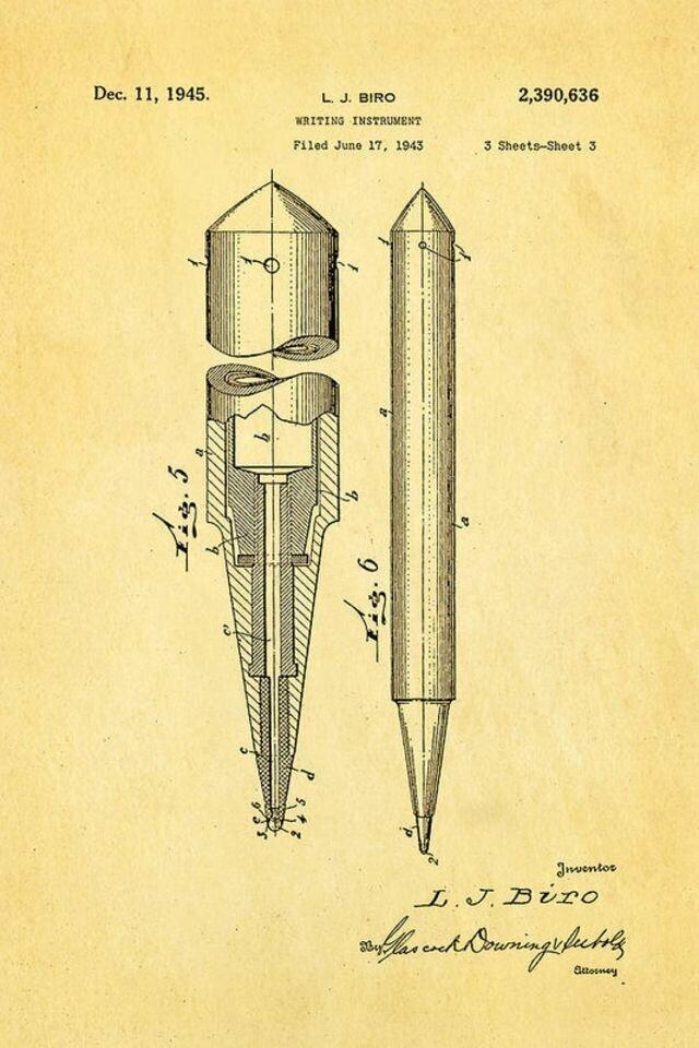 Кто придумал шариковую ручку?