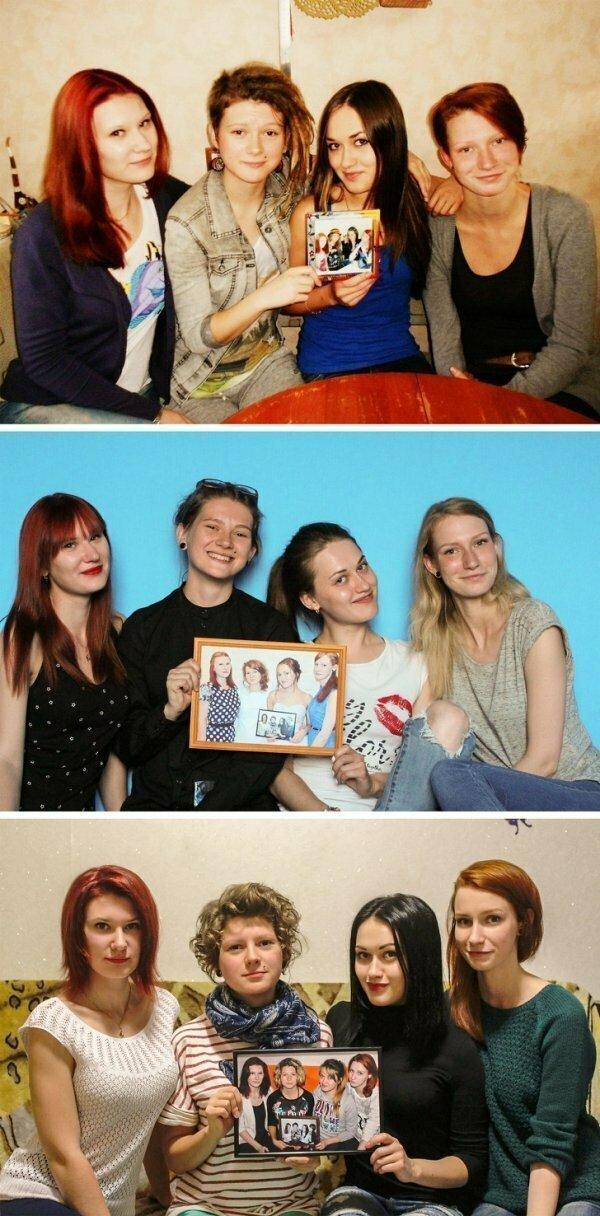 Эти милые россиянки делают ежегодное фото, начиная с 2012 года