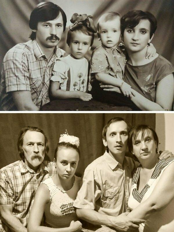 Семейное фото спустя года.