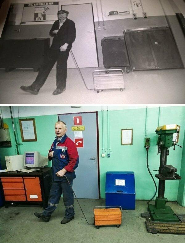 1988-2018. Коробка не сильно изменилась, но волосы человека на фото успели покрыться сединой.