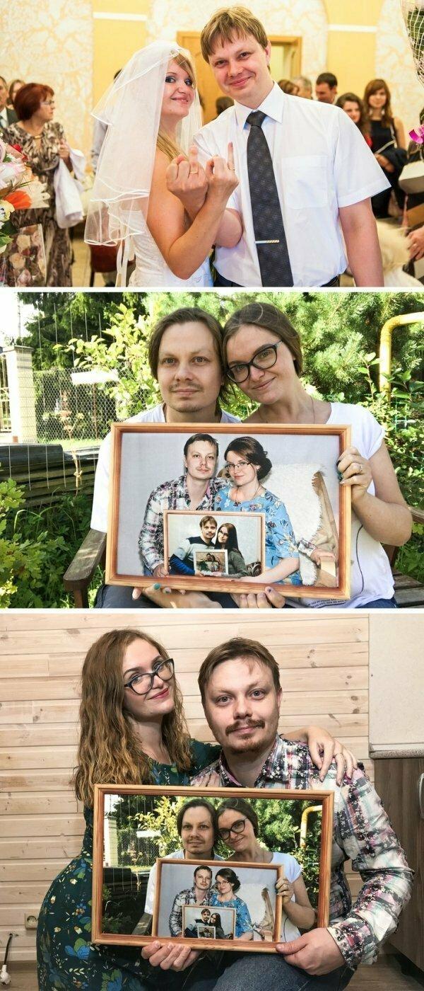 В 2013 эти двое поженились и с тех пор ежегодно делают совместное фото.