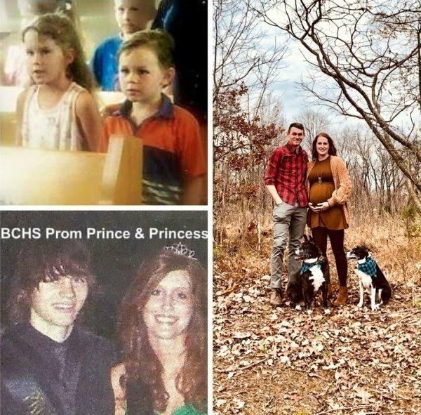 Впервые они встретились в воскресной школе, вместе закончили учебу, влюбились и поженились. А теперь после 13 лет совместной жизни ждут первого ребенка. Правда, это чудо?