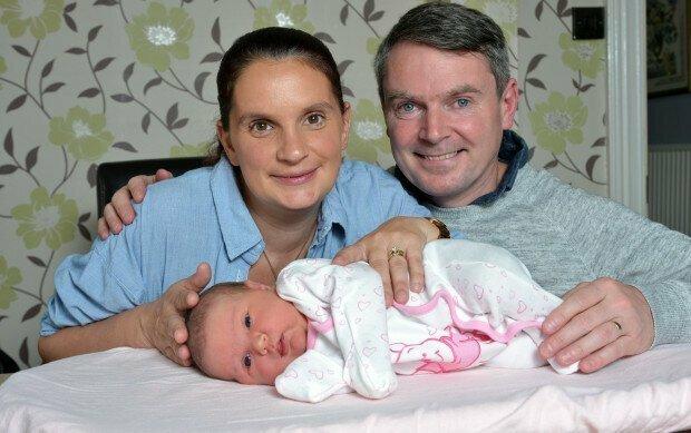 Рэдфорды с одним из новорожденных