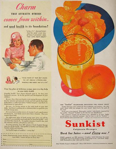 Рекламщики ввели моду на апельсиновый сок, когда продажи апельсинов сильно упали