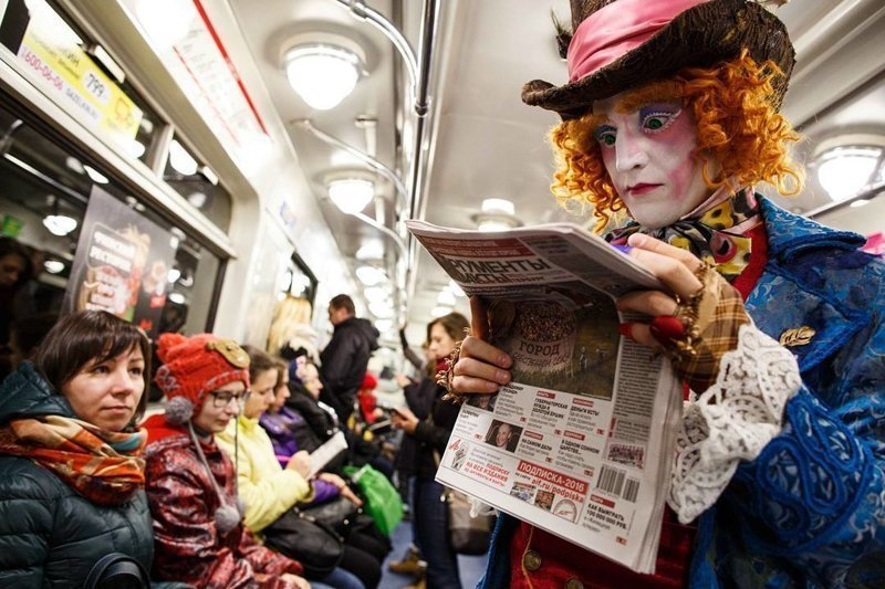 Из книжки в метро