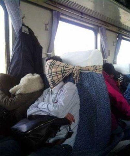 Когда едешь в поезде сидя трое суток
