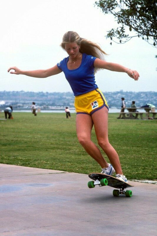 Чемпионка по скейтбордингу Эллен О`Нил, 1978 год, США