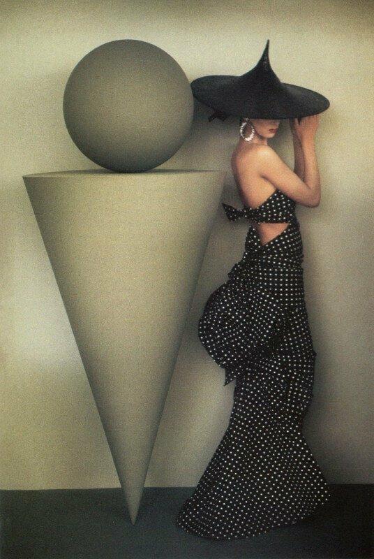 Ума Турман для британского VOGUE, 1986 год