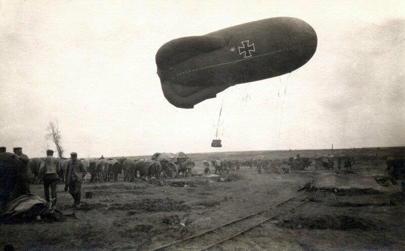 Немецкий наблюдательный дирижабль времен Первой мировой войны. 1915