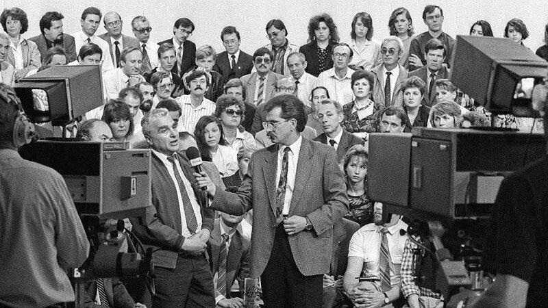 На съемках программы «Тема», 1992 год, Москва