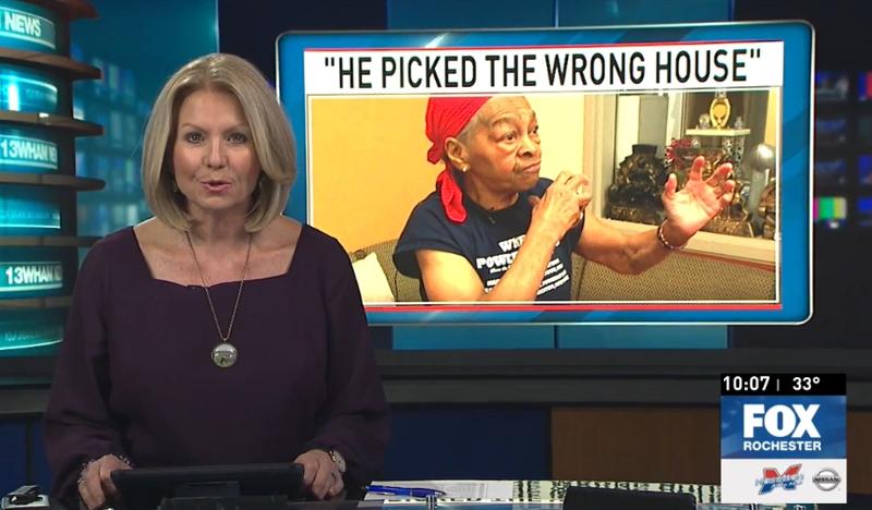 Бабуля-культуристка избила наивного грабителя, ворвавшегося в ее дом