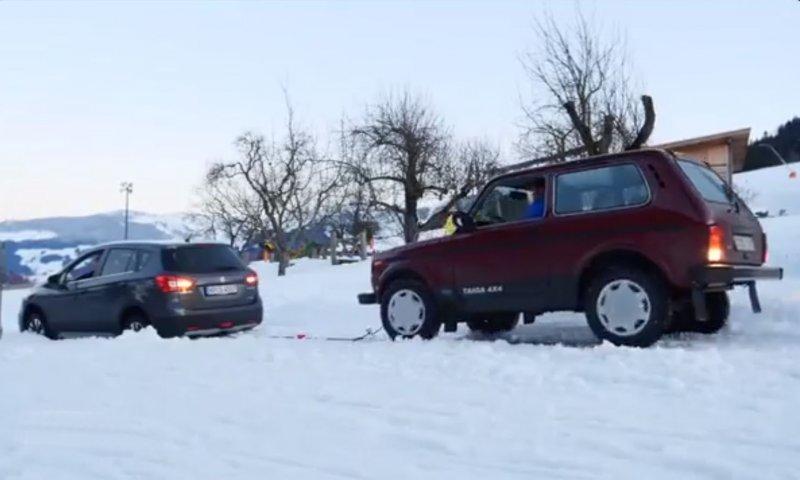 Наглядно: Lada Niva уделала зарубежных конкурентов на заснеженном склоне