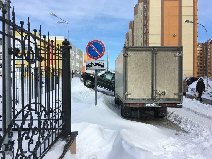 Найти зимой место для парковки - это пара пустяков для этих ребят
