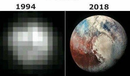 Плутон находится так далеко от Земли, что получить его снимок ученые смогли совсем недавно