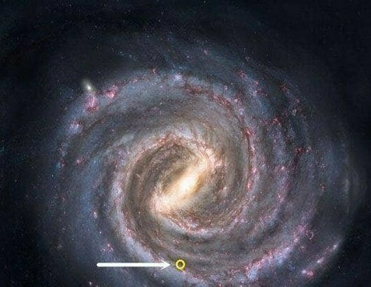 Все звезды, которые вы видите на ночном небе, умещаются в этот желтый кружок