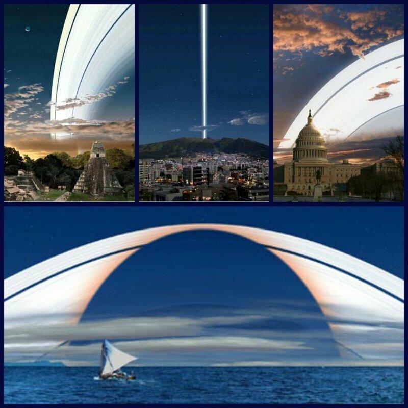 Если бы у Земли были кольца, как у Сатурна, мы бы видели их примерно так