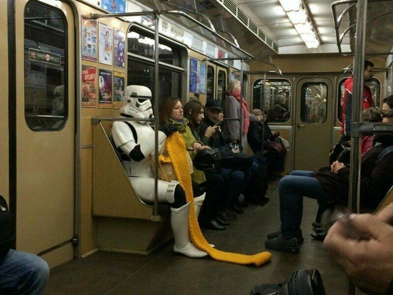 На метро передвигаются самые креативные люди