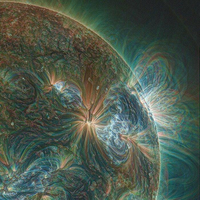 Солнце через ультрафиолет