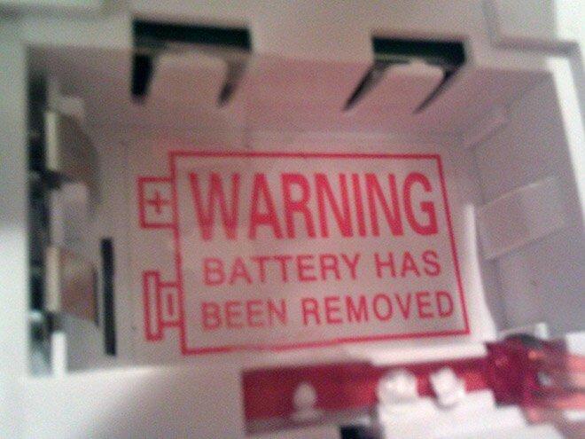 """""""Внимание! Батарейка извлечена!"""""""