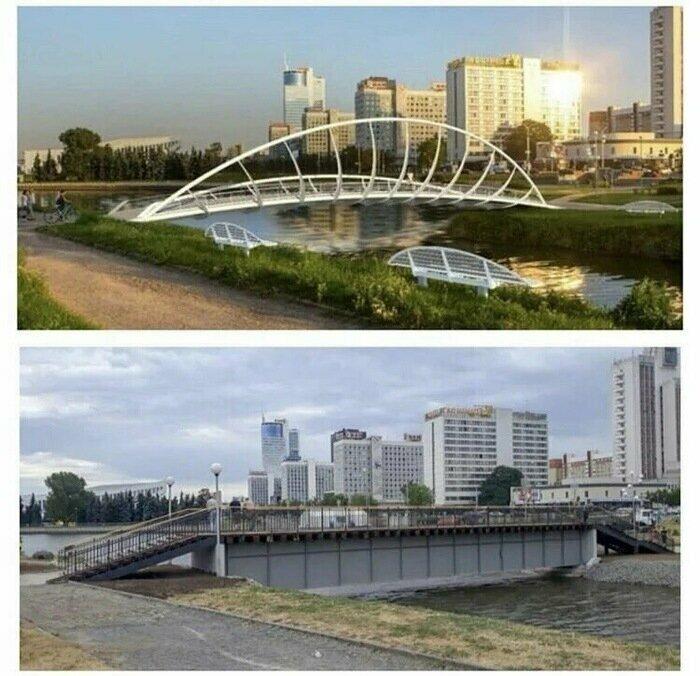 В Минске мост через Свислочь отремонтировали к Евроиграм: ожидание и реальность