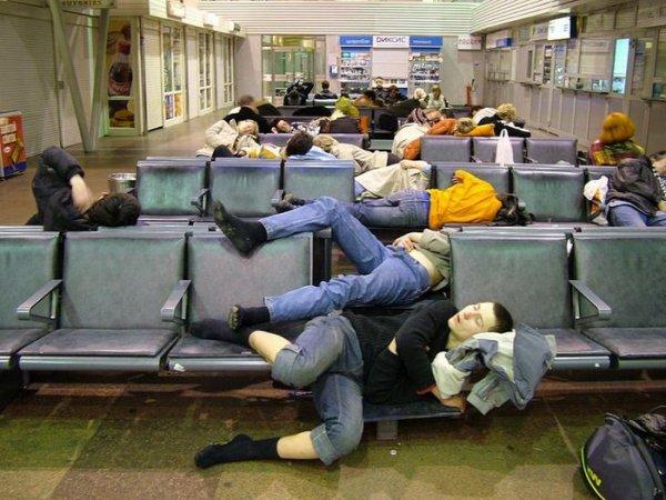Аэропорт - мы высыпались, как могли