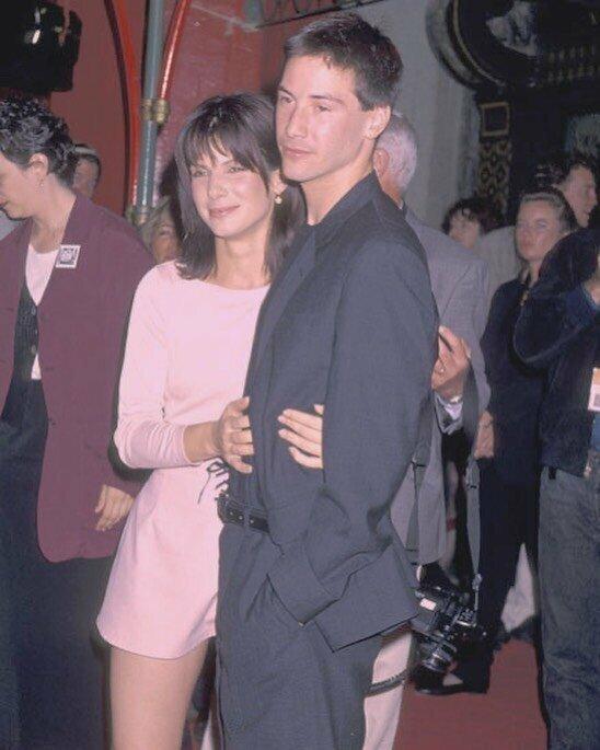 Сандра Буллок и Киану Ривз, 1994