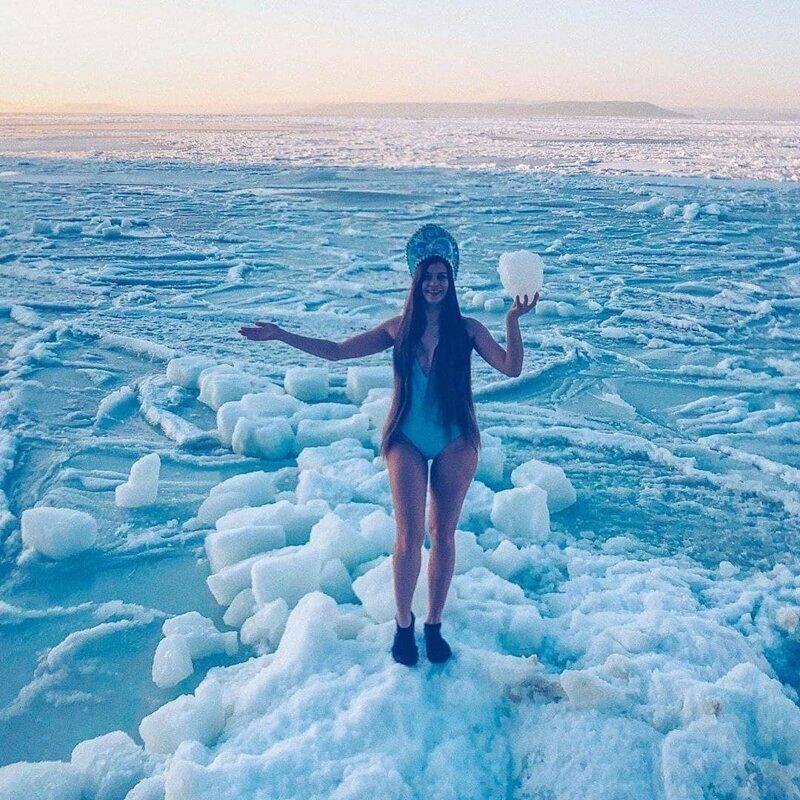 Русские девушки и красивые пейзажи