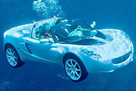 Кто сказал, что машина не ездит под водой?