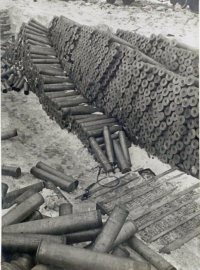 Немецкие склады снарядов под Сталинградом