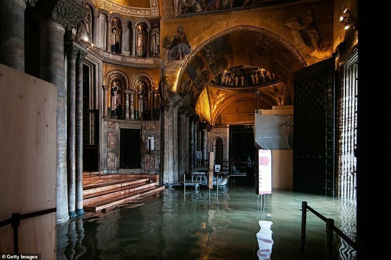 Внутри базилики Святого Марка