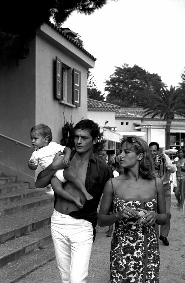 Ален Делон с женой Натали и сыном Энтони