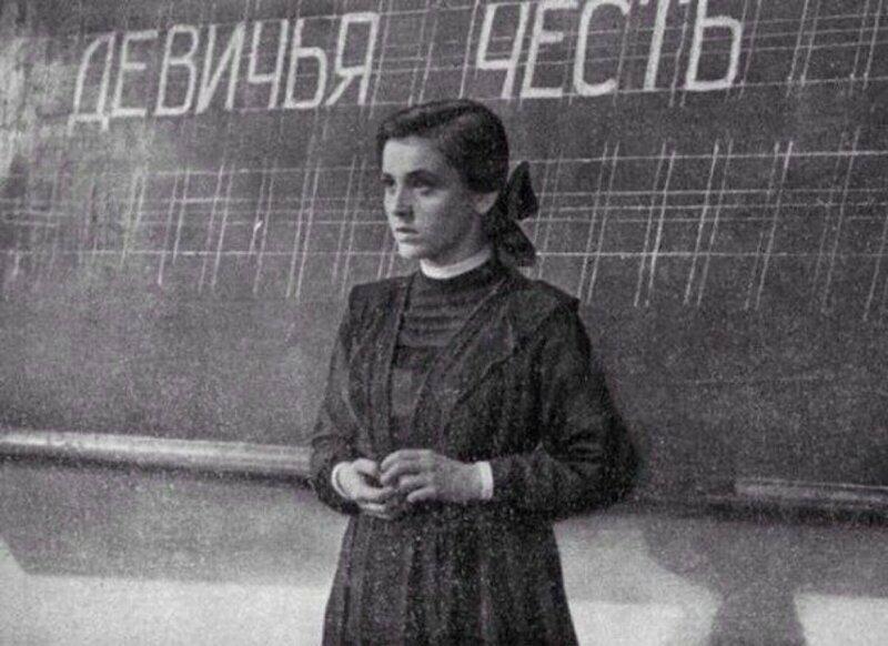 Урок в советской школе, 1960 год.