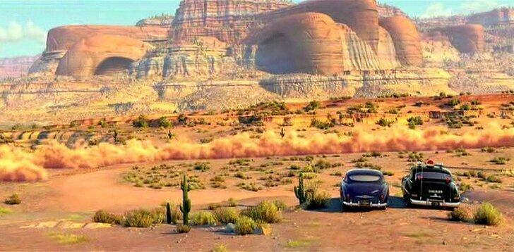 «Тачки» (2006) Каньоны в этом мультфильме напоминают по форме старинные автомобили. Показать предыдущие 49 комментар