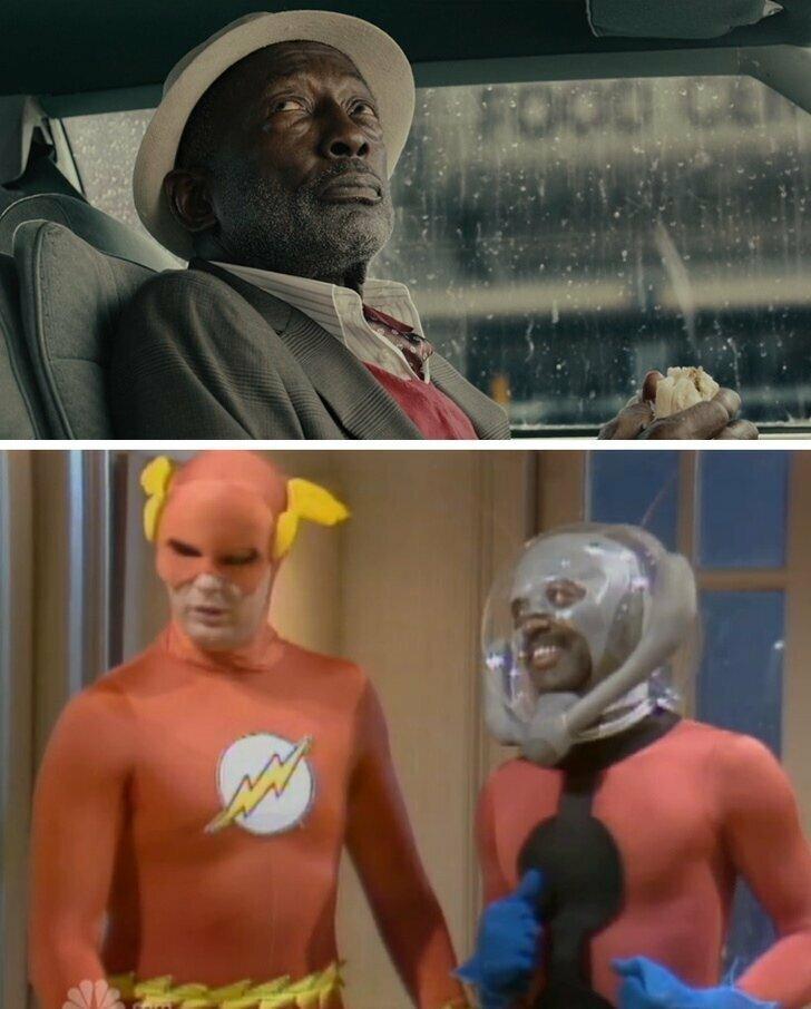 В фильме «Человек-муравей» (2015) есть эпизод с актером по имени Гарретт Моррис. Он был первым, кто изобразил Человека-муравья (в 1979 году в телепередаче Saturday Night Live)