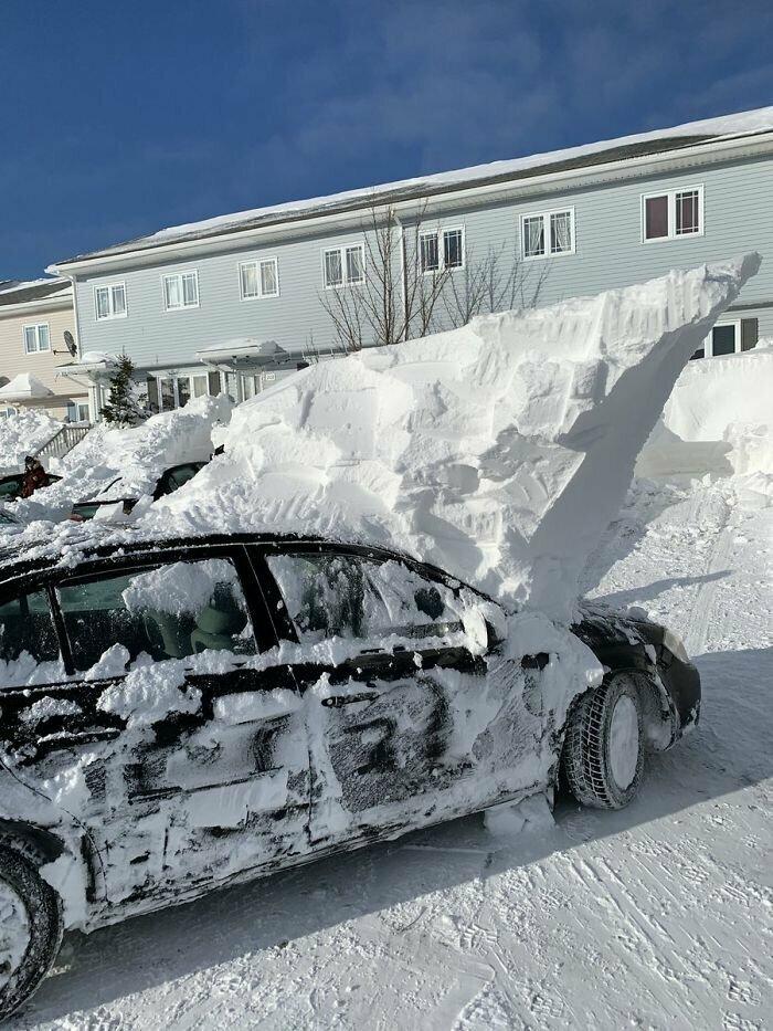 """""""Ну все, машину откопали. Осталось только пара движений дворниками, чтобы смахнуть снежок с лобового стекла!"""""""
